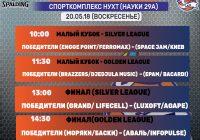 Расписание 20.05.18 — Финалы Кубков