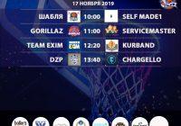 Расписание 16-17 ноября «Кубок АБЛ 2019-2020»