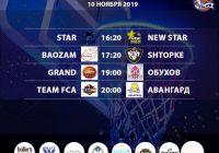 Расписание 9-10 ноября «Кубок АБЛ 2019-2020»