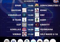 Расписание 23-24 ноября «Кубок АБЛ 2019-2020»