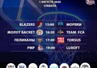 Расписание «Кубок АБЛ 2019-2020» на 01-02 августа 2020 года