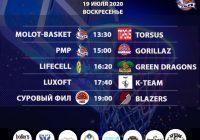Расписание «Кубок АБЛ 2019-2020» на 18-19 июля 2020 года