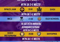 Расписание 18-19 августа турнир «Лето 35+»